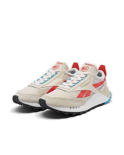 Reebok Natural Legacy schuhe Sneakers aus beigem Wildleder FY7432 41