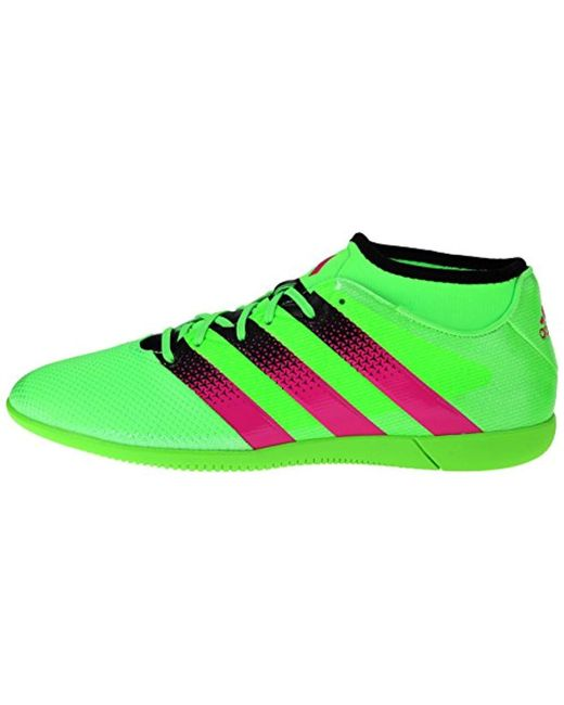 sneakers for cheap 407ae 735e5 Men's Performance Ace 16.3 Primesh Indoor Soccer Shoe,shock Green/shock  Pink/black,6.5 M Us