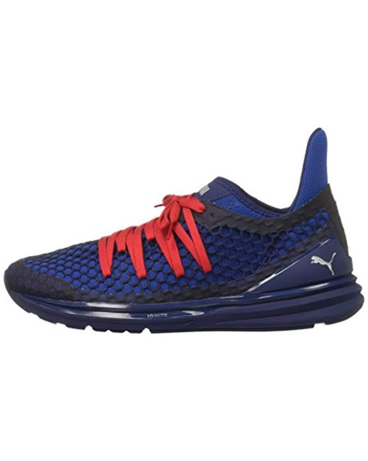 separation shoes 2f954 9af4c Men's Blue Ignite Limitless Netfit Sneaker