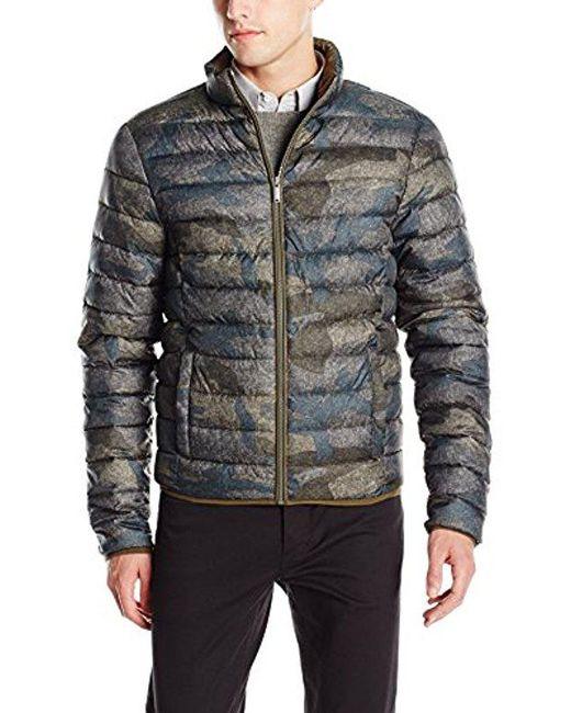 Calvin Klein - Multicolor Jeans Camo Print Puffer Jacket for Men - Lyst
