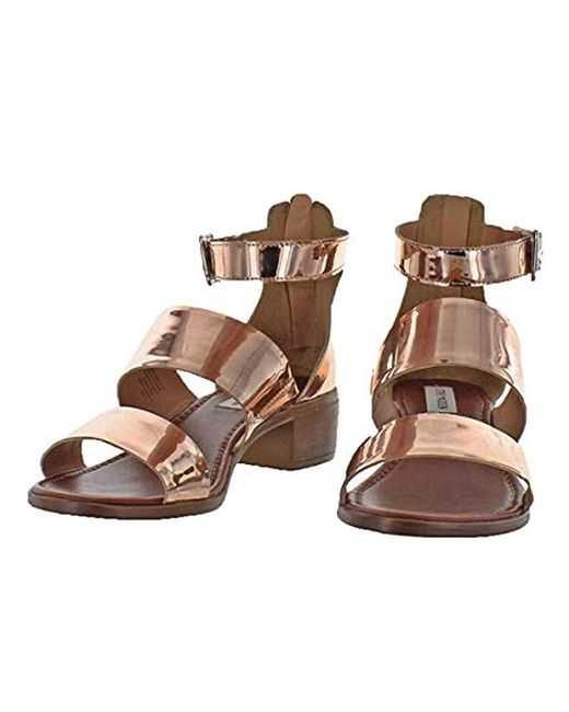 02a9b5c3a91 Lyst - Steve Madden Daly Dress Sandal in Brown - Save 52%