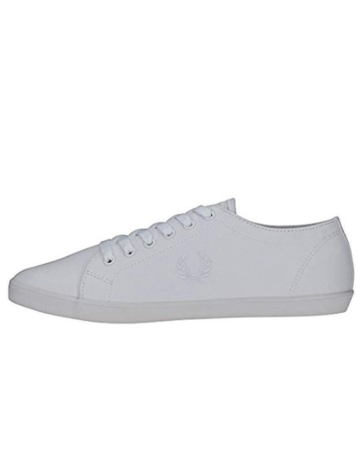 475944bfbe8c0 ... Fred Perry - White Kingston Twill Fashion Sneaker for Men - Lyst ...