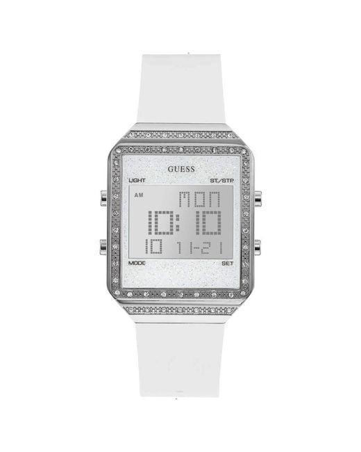 Orologio Digitale Quarzo Donna con Cinturino in Silicone W1224L1 di Guess in White