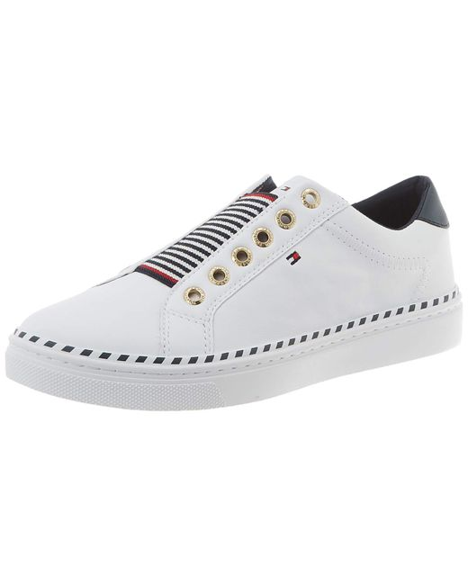 Tommy Hilfiger White Tommy Elastic City Sneaker Low-top