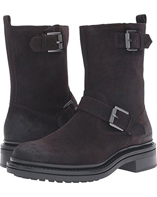 CALVIN KLEIN 205W39NYC - Black Ck Jeans Kris Oiled Suede Motorcycle Boot for Men - Lyst