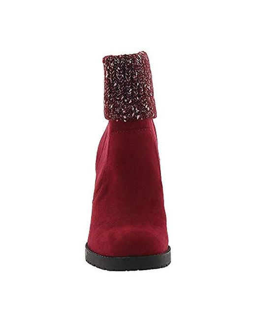 7f0854630559bd ... Lyst Circus by Sam Edelman - Red Carter Fashion Boot