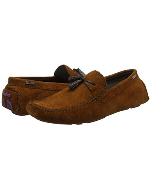 c06124727bf ... Ted Baker - Brown Mens Urbonn Loafers Shoes for Men - Lyst ...