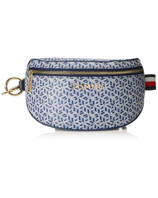 Iconic Tommy Bumbag Monogram Blue Ink Tommy Hilfiger