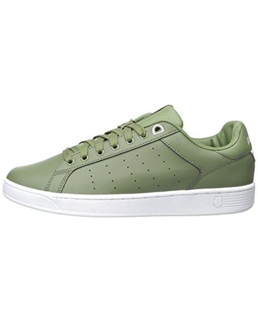 3f126e139638 ... K-swiss - Green Clean Court Cmf Fashion Sneaker for Men - Lyst ...