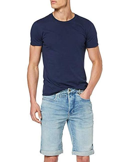 G-Star RAW Blue D-staq 3d Tapered Trousers for men