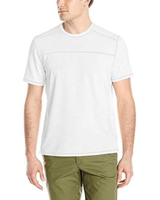 G.H.BASS - White Short Sleeve Explorer Second Skin Tee for Men - Lyst