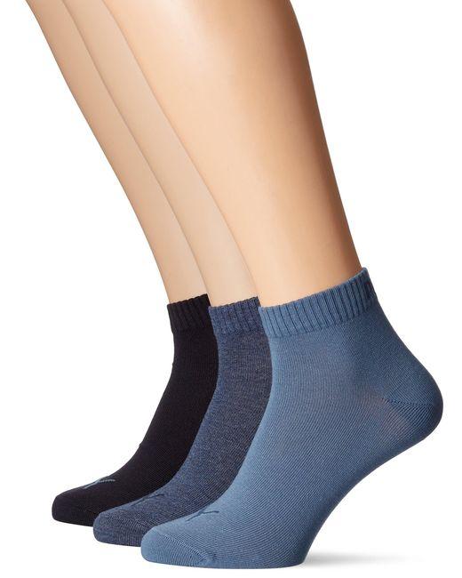 Quarter Plain 3P Synthétique PUMA pour homme en coloris Bleu - Lyst