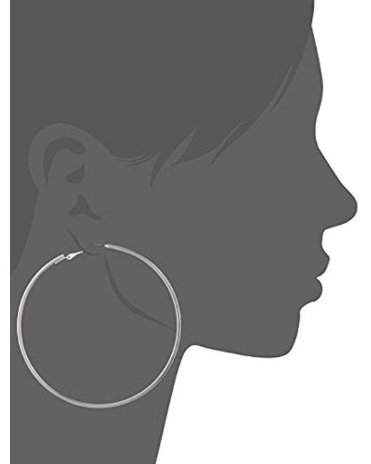 Guess - Metallic Basic Extra-large Thin Hoop Earrings - Lyst