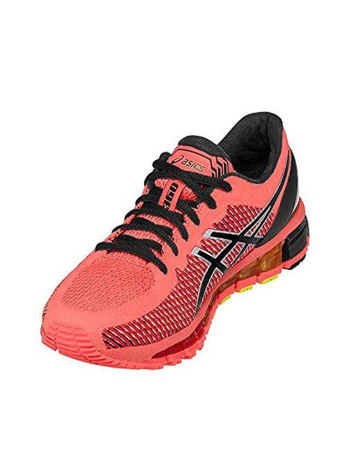half off 5771d 4e3aa Women's Red Gel-quantum 360 Cm Running Shoes (t6g6n)