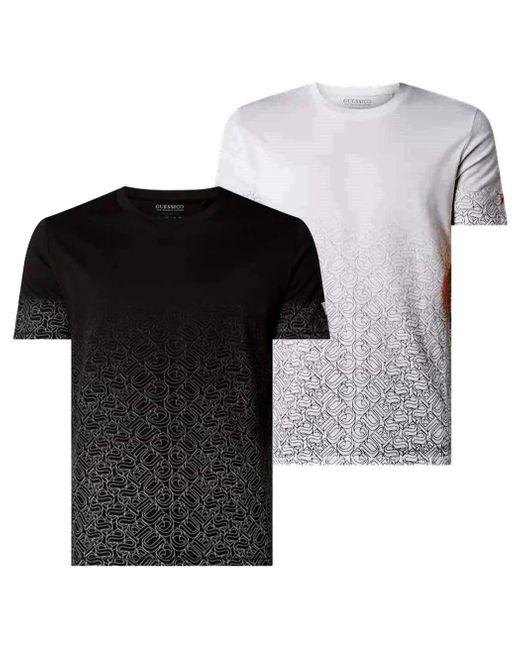 Uomo T Shirt M0GI57 K8HM0 JBLK Nero di Guess in Black da Uomo