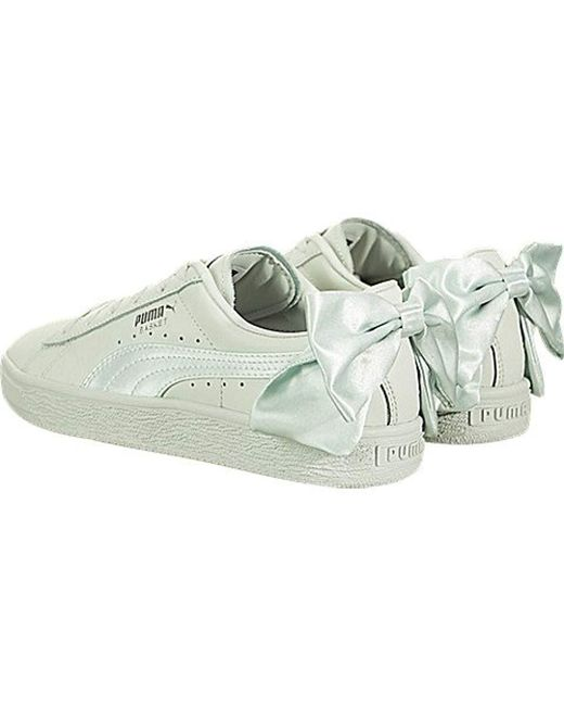 52Lyst Save Basket Wn's Blue Bow Trainers Puma Leather In v0N8nwm