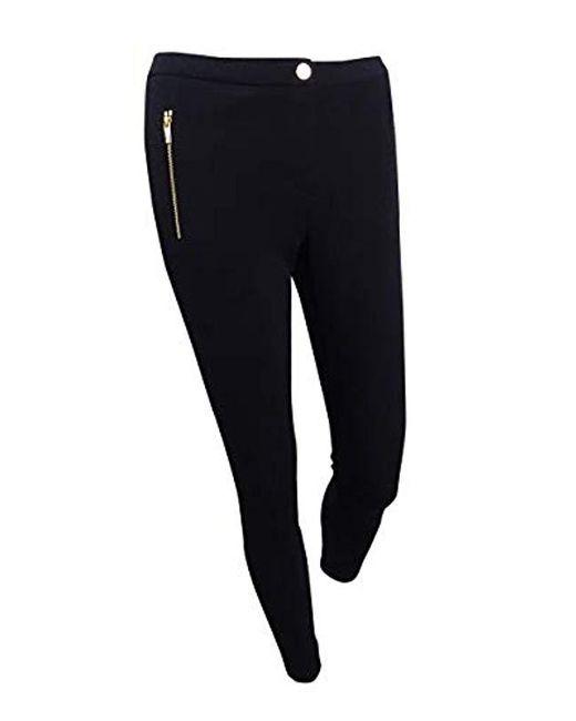 Calvin Klein - Black Petite Scuba Crepe Pant With Side Zippers - Lyst