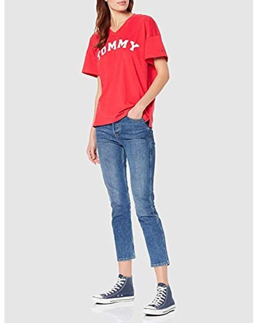 Tommy Hilfiger Vn Tee Ss Print T shirt in Red Lyst