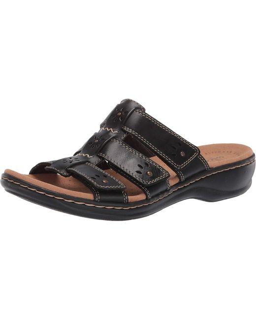 Clarks Black Leisa Spring Sandal