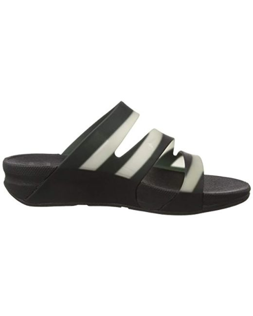 629d1cf20c9 ... Fitflop - Black Superjelly Twist With Stripe Open Toe Sandals - Lyst ...