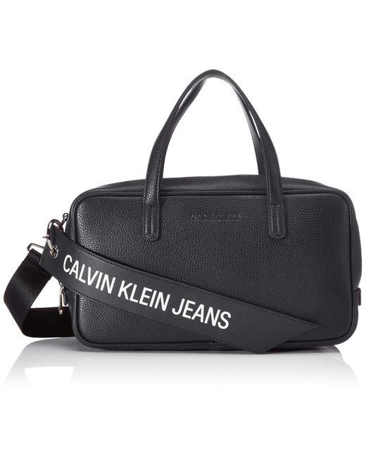 Ckj Banner Medium Duffle Calvin Klein de color Black