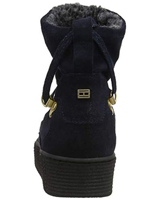 252ac474d Tommy Hilfiger  s Cozy Warmlined Suede Boot Snow in Blue - Lyst