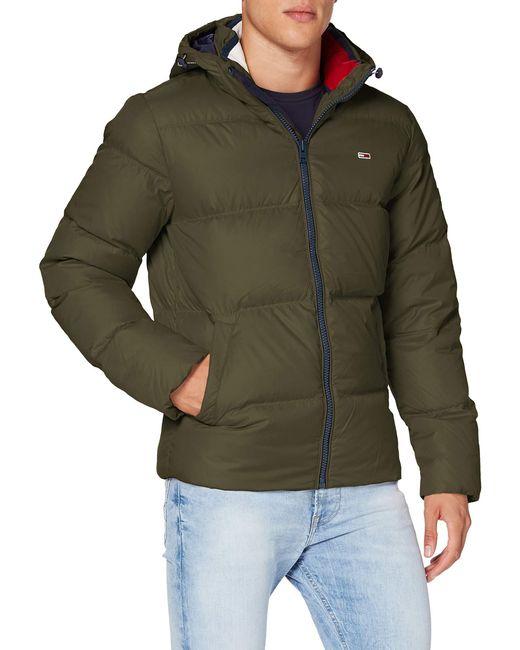 Tjm Essential Down Jacket Giacca di Tommy Hilfiger in Green da Uomo