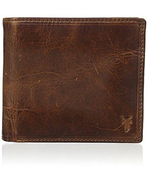 Frye - Brown Logan Antique Pull-up Billfold Wallet for Men - Lyst