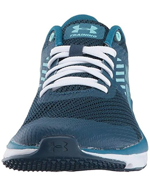 Under Armour Micro G Press Tr Blue Running Shoes Lace Up Mesh Trainers
