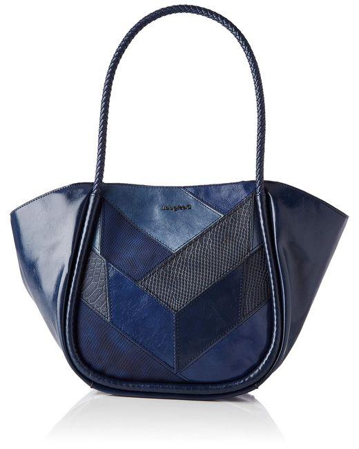 Desigual Blue Pu Shoulder Bag