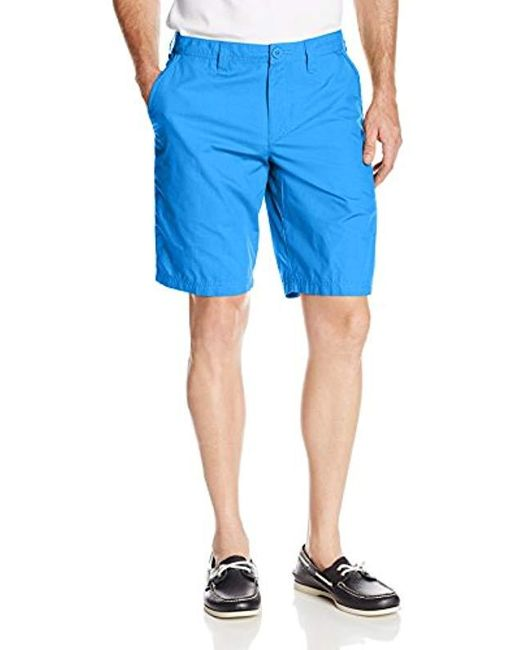 Columbia Blue Washed Out Short, Cotton, Classic Fit for men