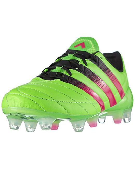 save off 698df 7a50d Men's Green Ace 16.1 Sg Leather Football Boots