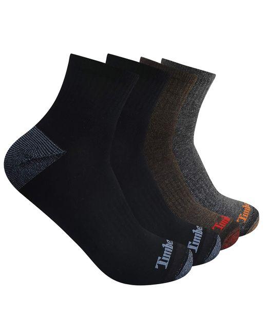 Timberland Black 4-pack Comfort Quarter Multicolor Large for men