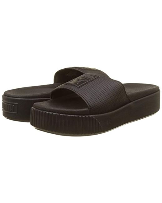 21e2e1cbdc8 PUMA Platform Slide Wns Ep Sandals in Black - Save 59% - Lyst