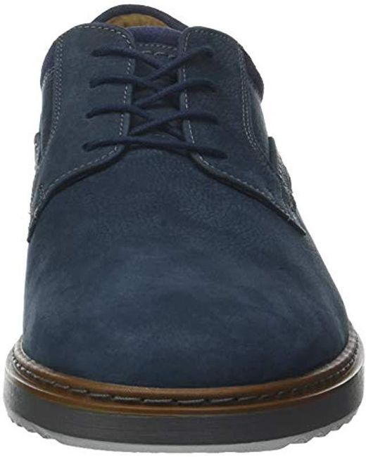dd16fc0b ... Clarks - Blue Un Geo Lace, Zapatos de Cordones Derby para Hombre for  Men ...