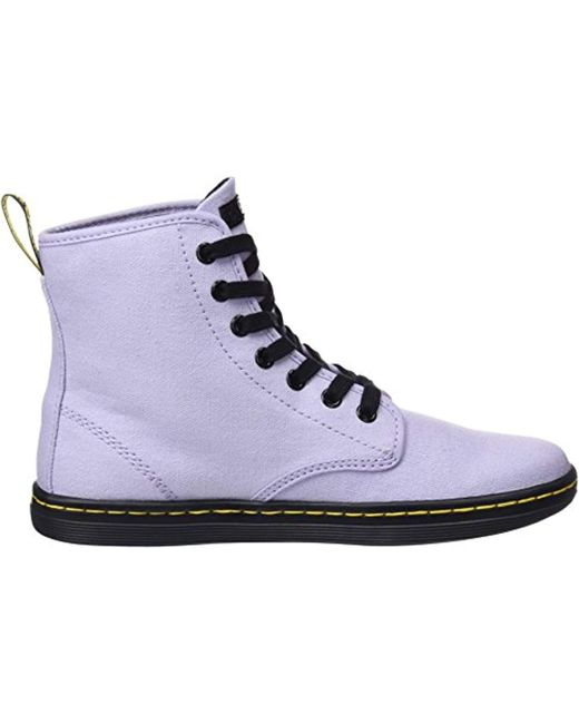 6eb6bd2bffd9a Dr. Martens Shoreditch Hi-top Trainers in Purple - Save 20% - Lyst