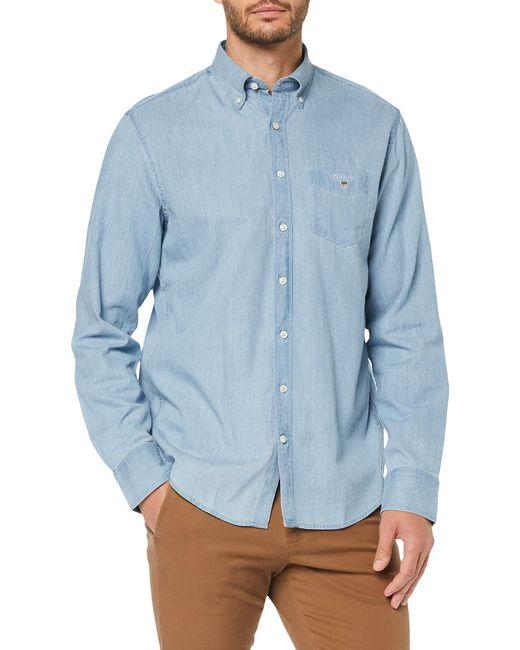 The Reg BD Camicia di Gant in Blue da Uomo