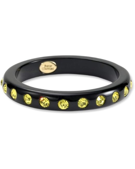 Juicy Couture - A Trip To Bountiful Black Medium Rhinestone Bangle Bracelet - Lyst