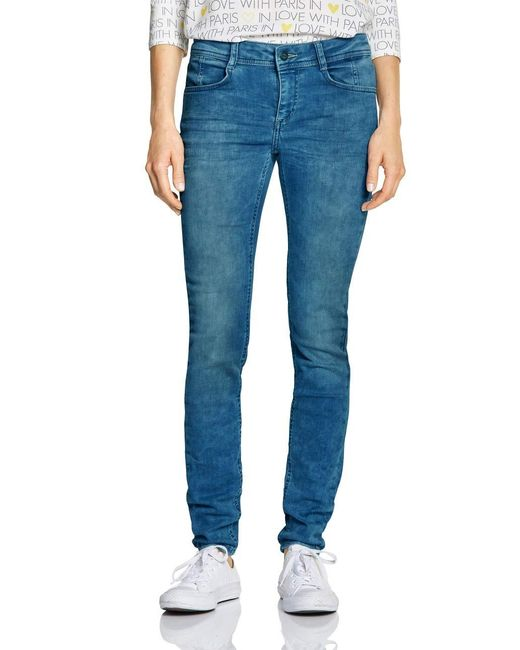 Street One Blue 372472 York Fit Slim Jeans