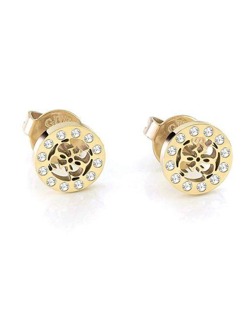 Aucun Type de métal Autre Forme Pas Une Pierre précieuse Boucles d'oreilles UBE79034 Guess en coloris Metallic