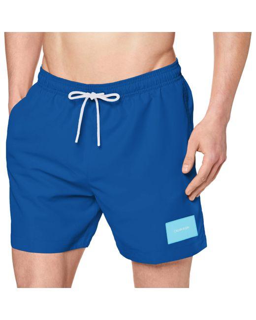 Calvin Klein Blue Medium Drawstring_swim_trunks for men