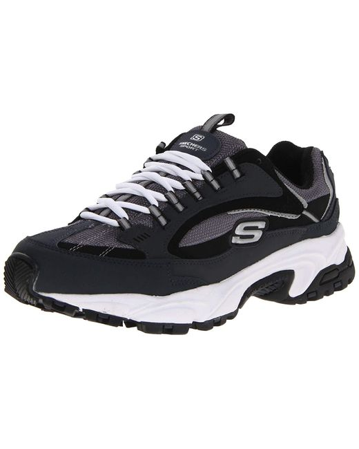 Skechers Sport Stamina Nuovo Cutback Lace-up Sneaker,navy/black,6.5 M Us for men