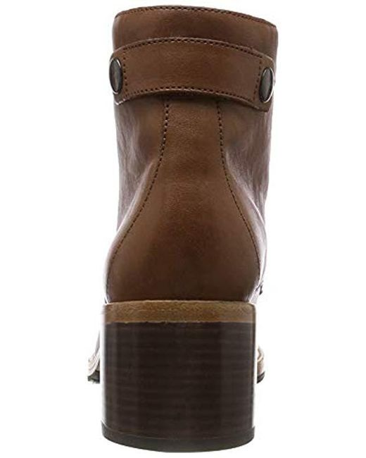 CLARKDALE TONE LADIES CLARKS SMART FORMAL LACE UP LEATHER HEELED ANKLE BOOTS