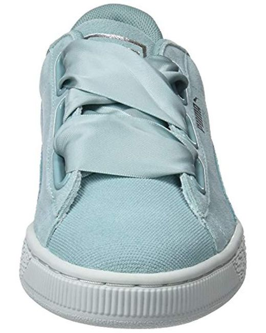 low priced 9fc2f 327b7 Women's Blue Suede Heart Pebble Wn's Trainers