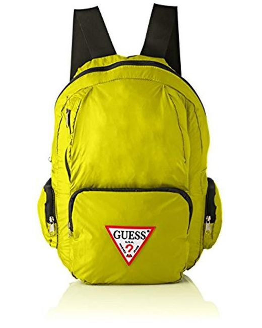 8facfc8dfff Guess  s Bags Backpack Backpack in Yellow for Men - Save 8% - Lyst