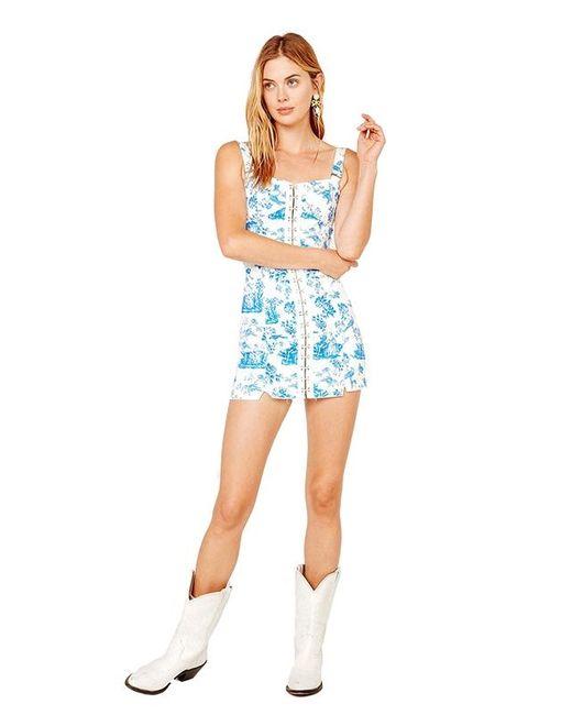 882b3fefed70 ... For Love & Lemons - Blue Monika Hook Front Mini Dress ...