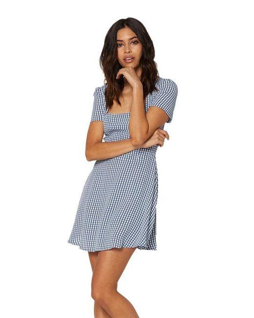 44e1fddb55a9 Lyst - Flynn Skye Maiden Mini Dress In Gingham Blues in Blue