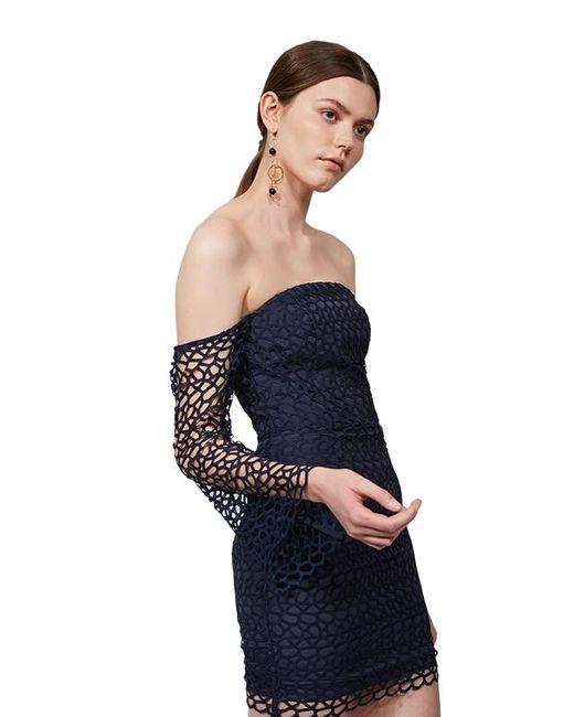 Keepsake Blue Keepsake Countdown Lace Mini Dress