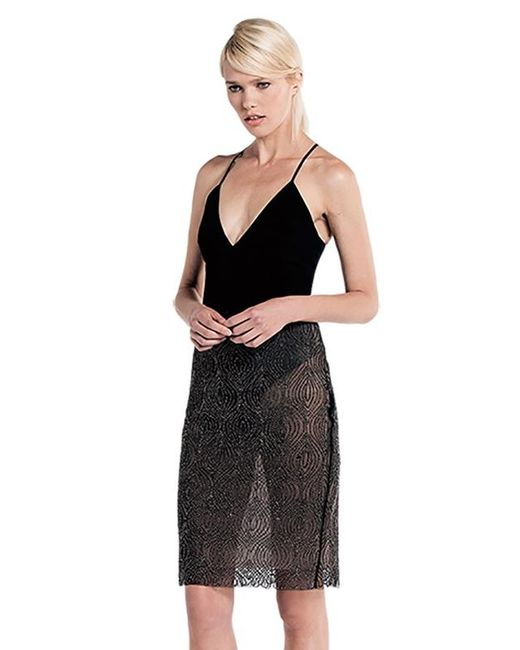 StyleStalker | Loreto V Neck Bodysuit In Black | Lyst
