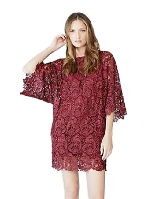 Blaque Label | Purple Lace Mini Dress In Wine | Lyst